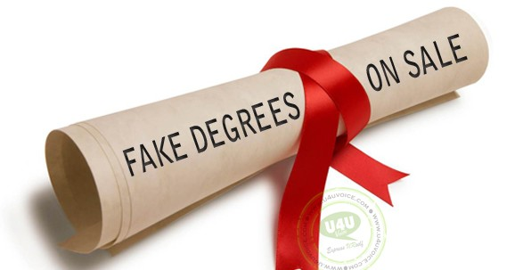 Fake degrees are illegal